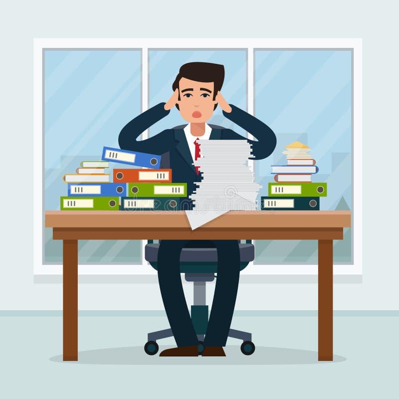 Επιχειρηματίας στον εργασιακό χώρο στην αρχή ελεύθερη απεικόνιση δικαιώματος