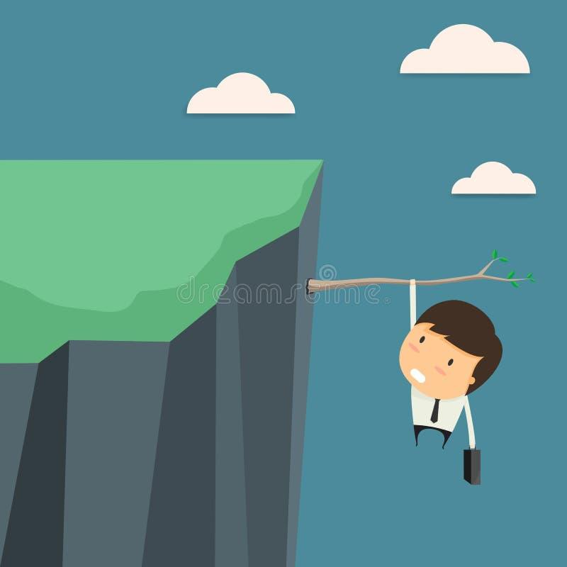 Επιχειρηματίας στους επιχειρησιακούς κινδύνους απεικόνιση αποθεμάτων