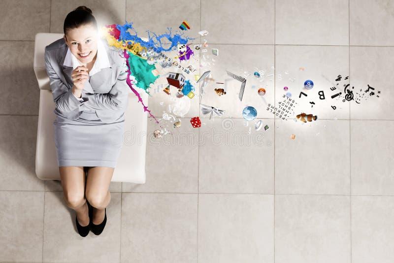 επιχειρηματίας στοχαστ&io στοκ φωτογραφία με δικαίωμα ελεύθερης χρήσης