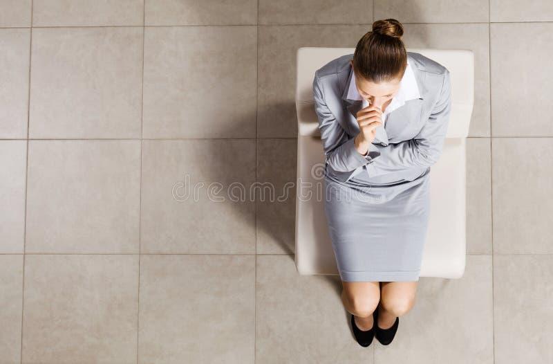 επιχειρηματίας στοχαστ&io στοκ εικόνα με δικαίωμα ελεύθερης χρήσης