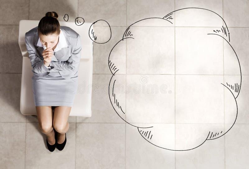 επιχειρηματίας στοχαστ&io στοκ φωτογραφίες με δικαίωμα ελεύθερης χρήσης
