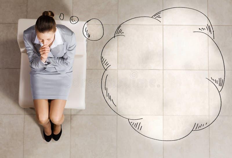 επιχειρηματίας στοχαστ&io στοκ φωτογραφία