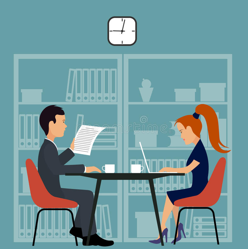 Επιχειρηματίας στο γραφείο πράσινος εργαζόμενος γραφείων ανασκόπησης απεικόνιση αποθεμάτων