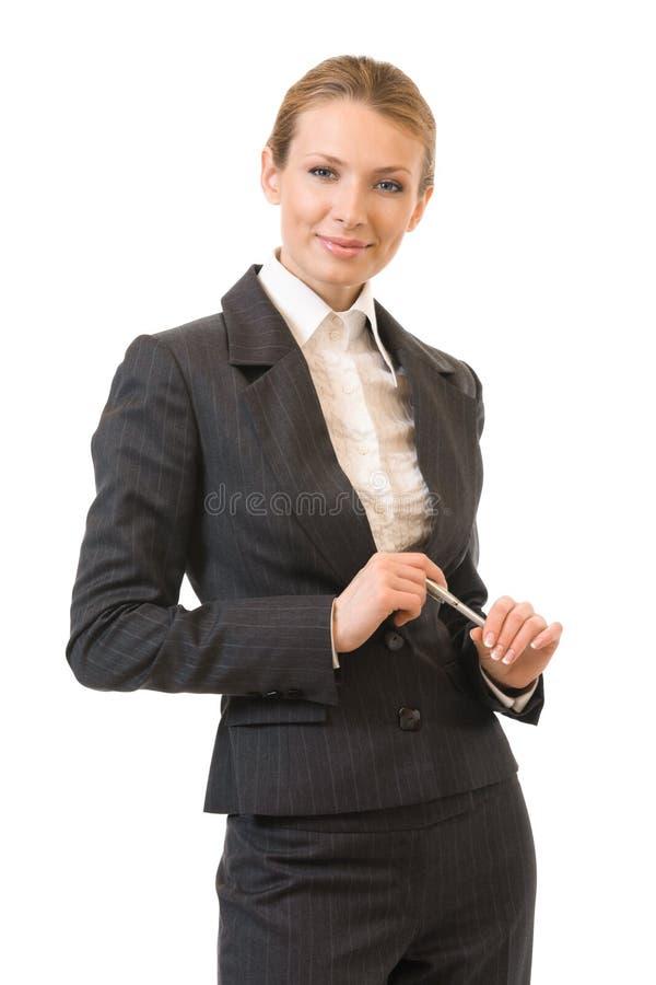 Επιχειρηματίας, στο λευκό στοκ φωτογραφίες