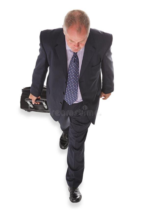 Επιχειρηματίας υπερυψωμένος στοκ φωτογραφίες