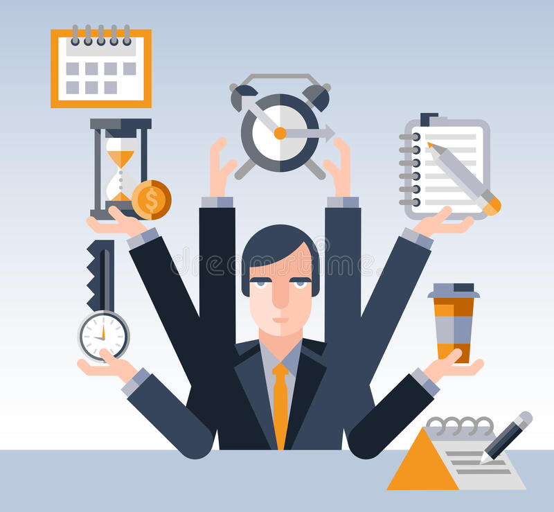 Επιχειρηματίας χρονικής διαχείρισης ελεύθερη απεικόνιση δικαιώματος