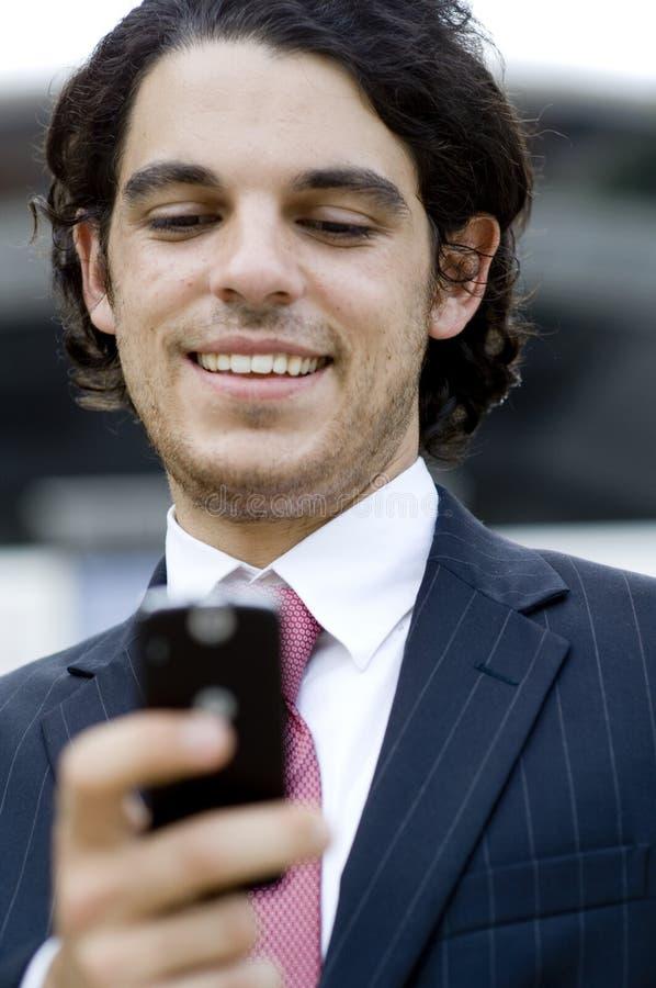 Επιχειρηματίας Texting στοκ φωτογραφίες με δικαίωμα ελεύθερης χρήσης