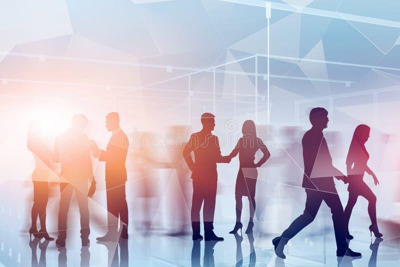 Επιχειρηματίες και έννοια τεχνολογίας απεικόνιση αποθεμάτων