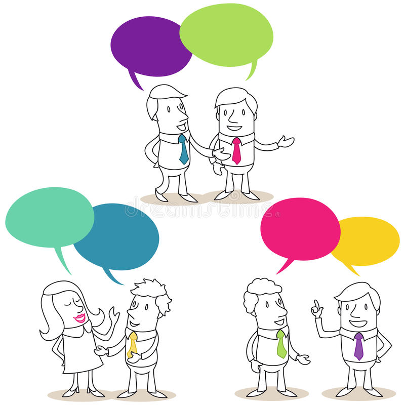 Επιχειρηματίες που έχουν τις συνομιλίες απεικόνιση αποθεμάτων