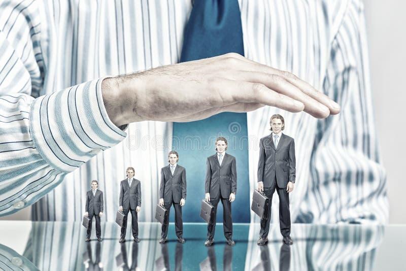Επιχειρηματίες που καλύπτονται με το φοίνικα στοκ εικόνα
