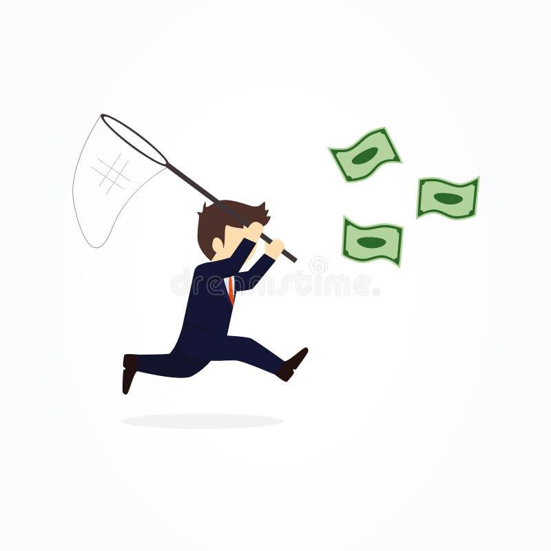 Επιχειρηματίες που προσπαθούν να πάρει τα χρήματα μετρητών απεικόνιση αποθεμάτων