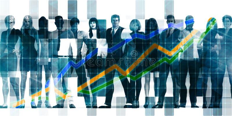 Επιχειρηματίες που στέκονται στη γραμμή διανυσματική απεικόνιση