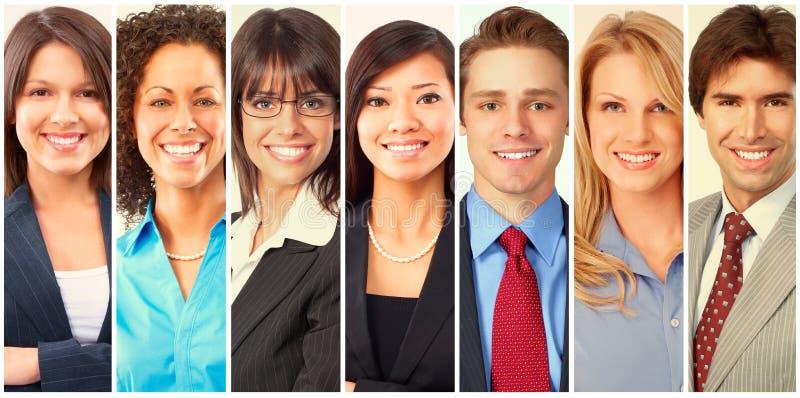 επιχειρηματίες που τίθε& στοκ εικόνα με δικαίωμα ελεύθερης χρήσης