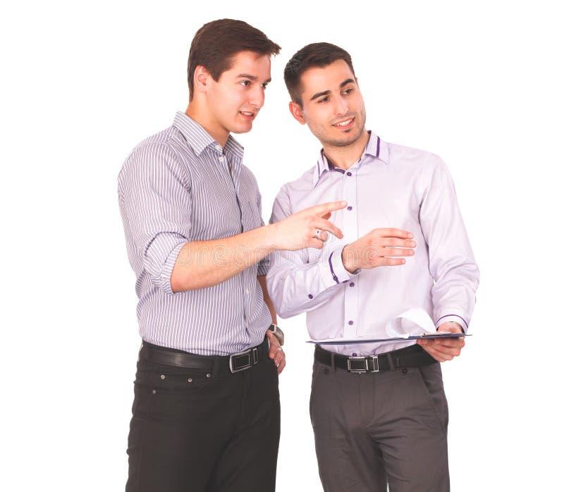 Επιχειρηματίες που τινάζουν τα χέρια, στο άσπρο υπόβαθρο στοκ φωτογραφία με δικαίωμα ελεύθερης χρήσης
