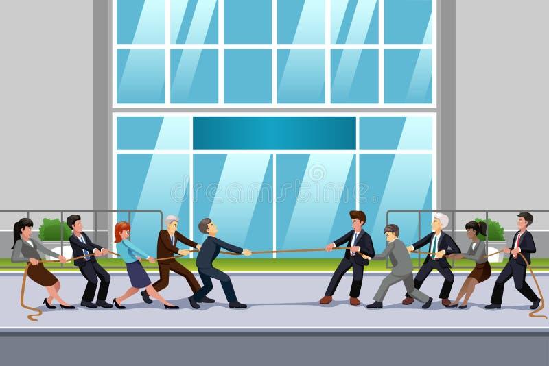 Επιχειρηματίες στην απεικόνιση σύγκρουσης ελεύθερη απεικόνιση δικαιώματος