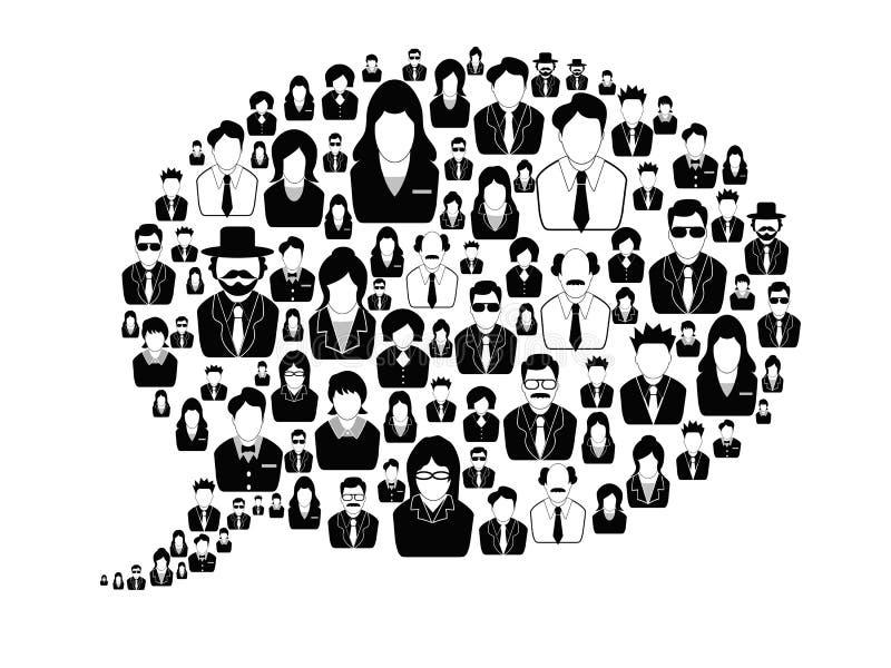 Επιχειρηματίες στη λεκτική φυσαλίδα απεικόνιση αποθεμάτων