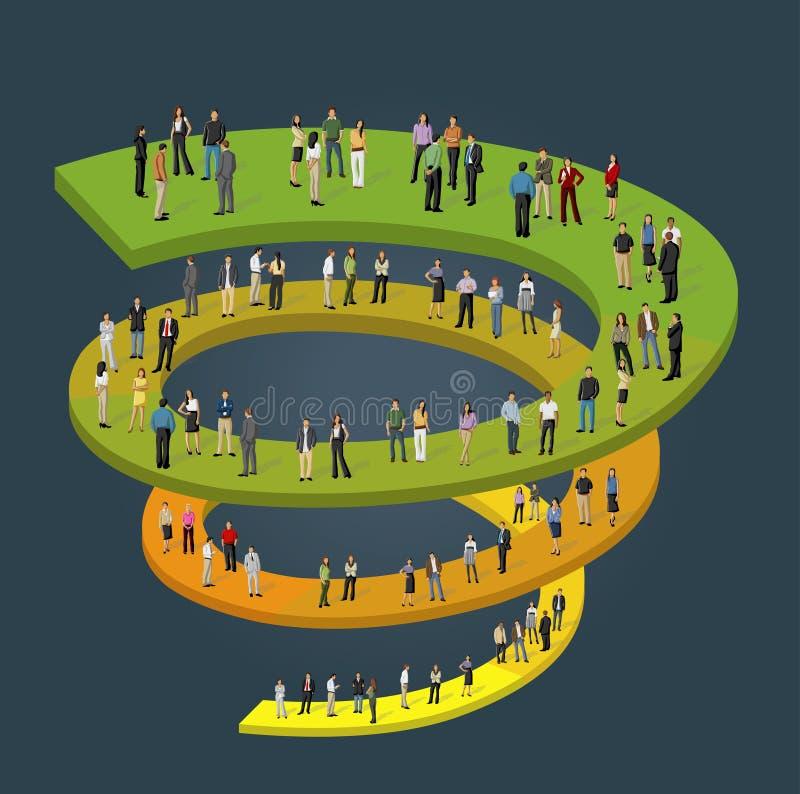 Επιχειρηματίες στη διαδικασία εργασίας διανυσματική απεικόνιση