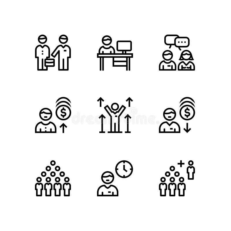 Επιχειρηματίες, συνεδρίαση, διανυσματικά απλά εικονίδια εργασίας ομάδων για τον Ιστό και το κινητό πακέτο 3 σχεδίου ελεύθερη απεικόνιση δικαιώματος