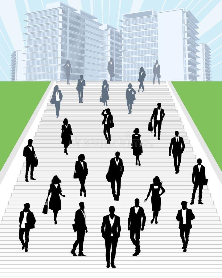 Επιχειρηματίες υπαίθρια διανυσματική απεικόνιση
