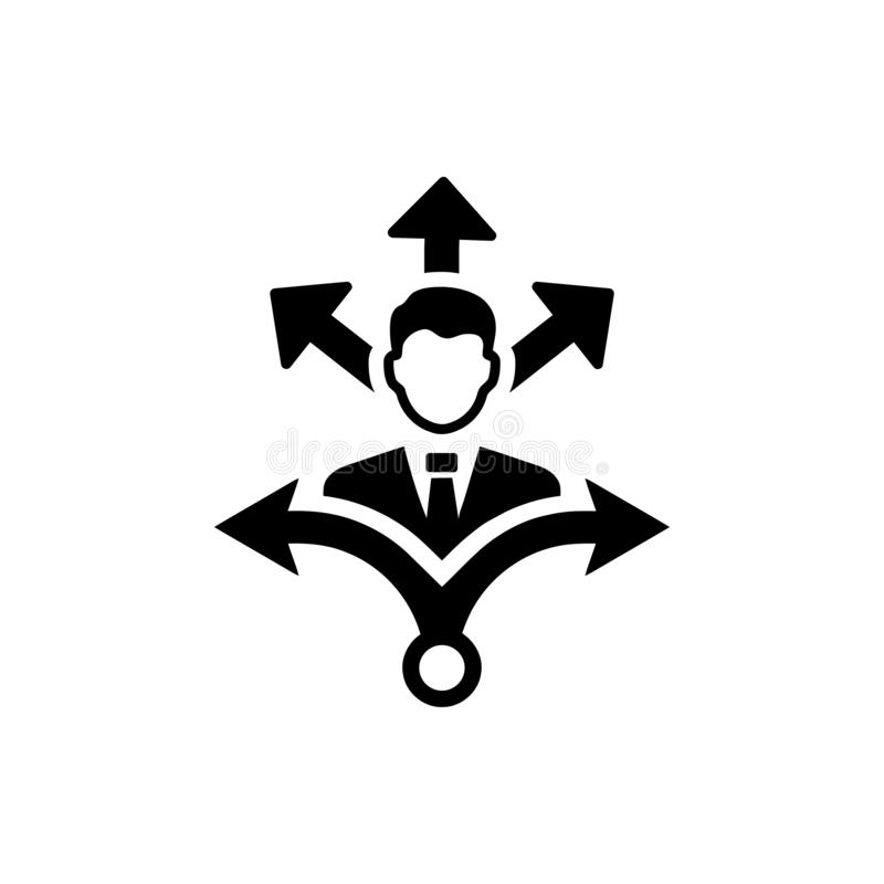 Επιχειρηματική απόφαση, επιχειρηματικό σχέδιο, απόφαση - παραγωγή, διαχείριση, απόφαση ομάδων, σχέδιο, προγραμματισμός, εικονίδιο ελεύθερη απεικόνιση δικαιώματος