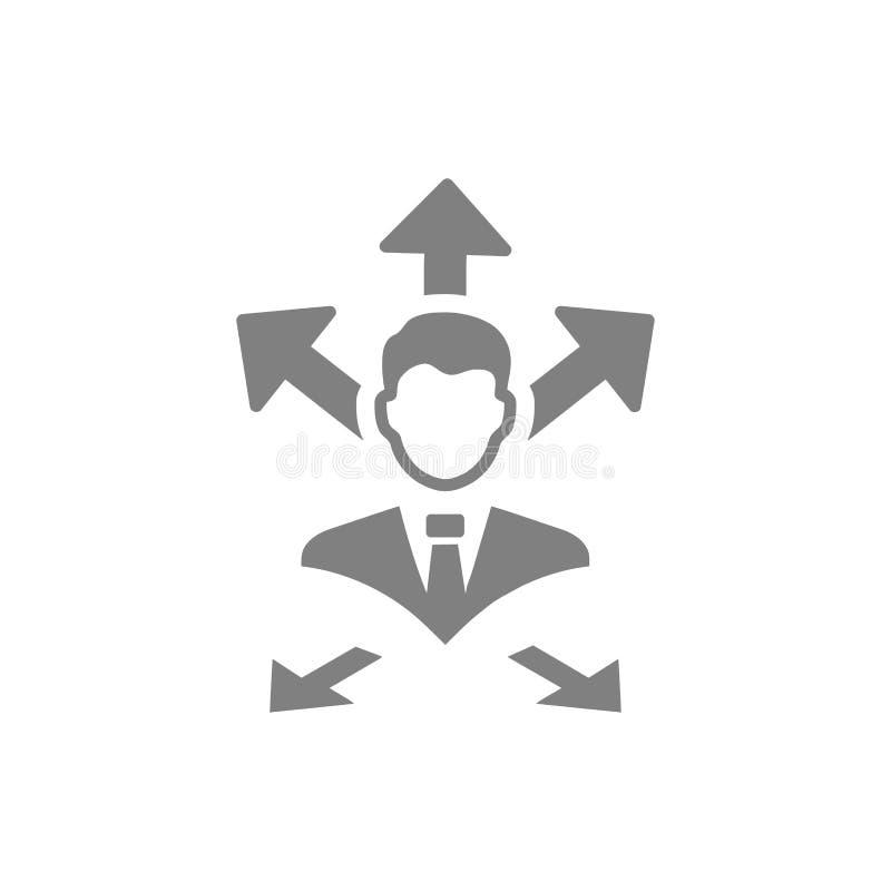 Επιχειρηματική απόφαση, επιχειρηματικό σχέδιο, απόφαση - παραγωγή, διαχείριση, απόφαση ομάδων, σχέδιο, προγραμματισμός, γκρίζο ει απεικόνιση αποθεμάτων
