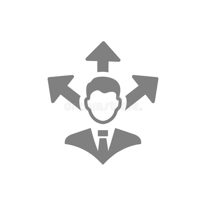 Επιχειρηματική απόφαση, επιχειρηματικό σχέδιο, απόφαση - παραγωγή, διαχείριση, απόφαση ομάδων, σχέδιο, προγραμματισμός, γκρίζο ει ελεύθερη απεικόνιση δικαιώματος