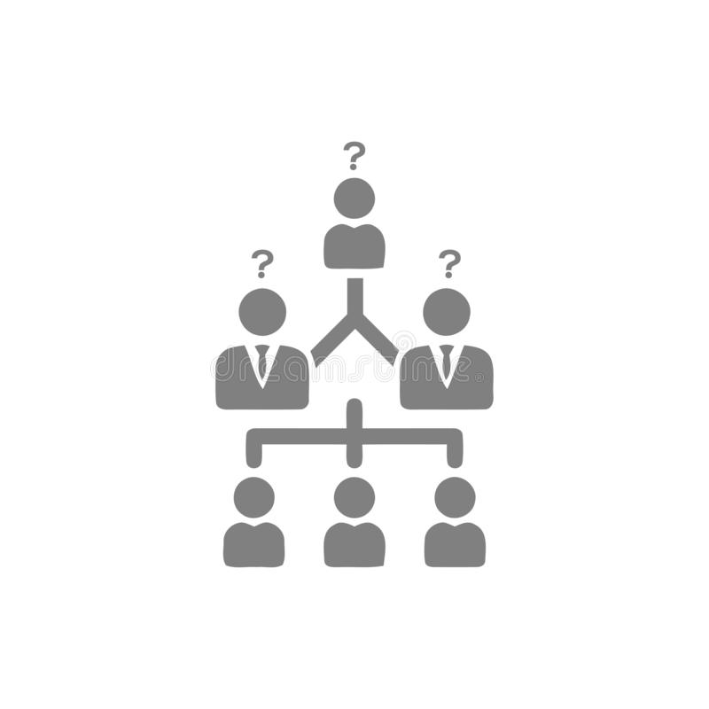 Επιχειρηματική απόφαση, επιχειρηματικό σχέδιο, απόφαση - παραγωγή, διαχείριση, απόφαση ομάδων, σχέδιο, προγραμματισμός, γκρίζο ει διανυσματική απεικόνιση