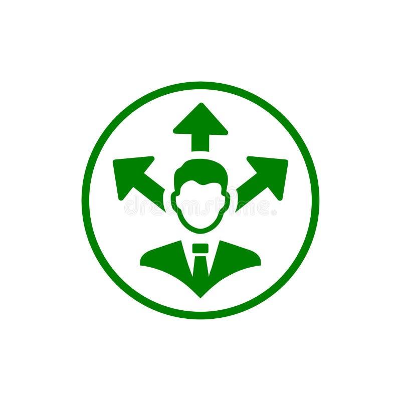 Επιχειρηματική απόφαση, επιχειρηματικό σχέδιο, απόφαση - παραγωγή, διαχείριση, απόφαση ομάδων, σχέδιο, προγραμματισμός, πράσινο ε διανυσματική απεικόνιση