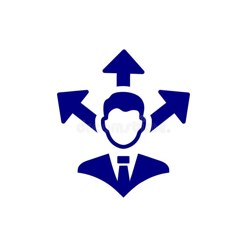 Επιχειρηματική απόφαση, επιχειρηματικό σχέδιο, απόφαση - παραγωγή, διαχείριση, απόφαση ομάδων, σχέδιο, προγραμματισμός, μπλε εικο ελεύθερη απεικόνιση δικαιώματος