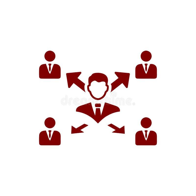 Επιχειρηματική απόφαση, επιχειρηματικό σχέδιο, απόφαση - παραγωγή, διαχείριση, απόφαση ομάδων, σχέδιο, προγραμματισμός, καφέ εικο διανυσματική απεικόνιση