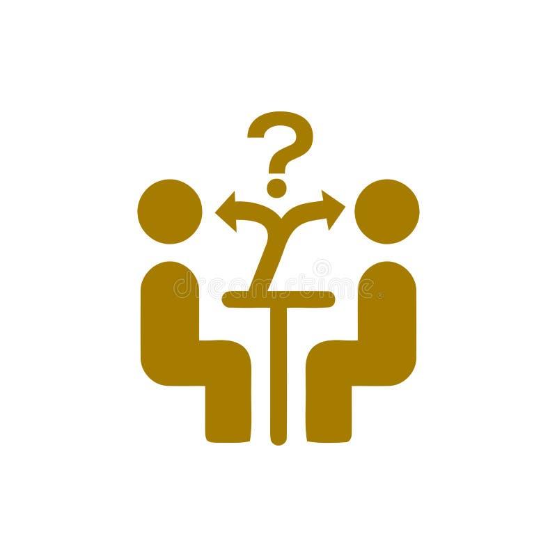 Επιχειρηματική απόφαση, επιχειρηματικό σχέδιο, απόφαση - παραγωγή, διαχείριση, απόφαση ομάδων, σχέδιο, προγραμματισμός, χρυσό εικ διανυσματική απεικόνιση
