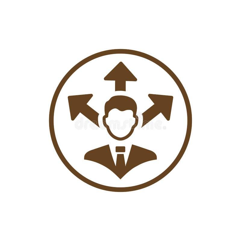 Επιχειρηματική απόφαση, επιχειρηματικό σχέδιο, απόφαση - παραγωγή, διαχείριση, απόφαση ομάδων, σχέδιο, προγραμματισμός, καφετί ει διανυσματική απεικόνιση