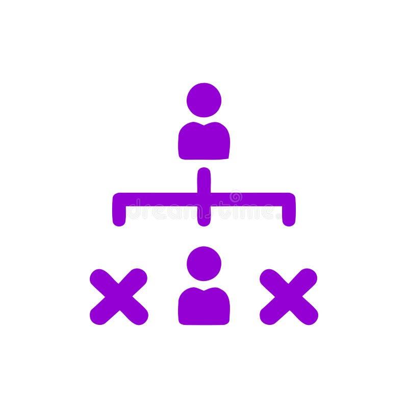 Επιχειρηματική απόφαση, επιχειρηματικό σχέδιο, απόφαση - παραγωγή, διαχείριση, σχέδιο, προγραμματισμός, ιώδες εικονίδιο χρώματος  ελεύθερη απεικόνιση δικαιώματος