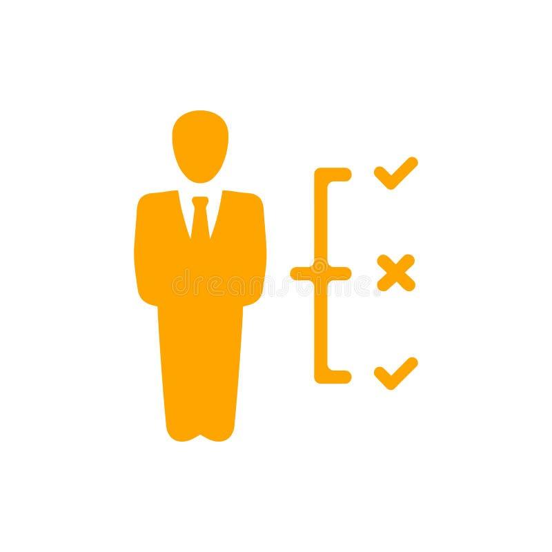 Επιχειρηματική απόφαση, επιχειρηματικό σχέδιο, απόφαση - παραγωγή, διαχείριση, σχέδιο, προγραμματισμός, εικονίδιο στρατηγικής διανυσματική απεικόνιση