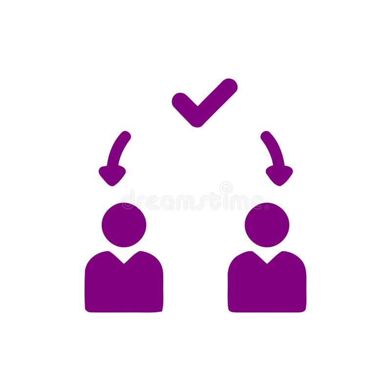 Επιχειρηματική απόφαση, επιχειρηματικό σχέδιο, απόφαση - παραγωγή, διαχείριση, σχέδιο, προγραμματισμός, πορφυρό εικονίδιο χρώματο απεικόνιση αποθεμάτων