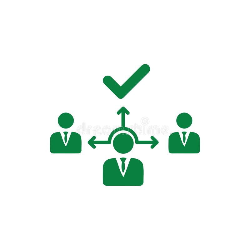 Επιχειρηματική απόφαση, επιχειρηματικό σχέδιο, απόφαση - παραγωγή, διαχείριση, σχέδιο, προγραμματισμός, πράσινο εικονίδιο χρώματο απεικόνιση αποθεμάτων