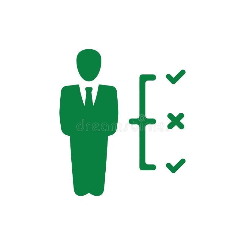 Επιχειρηματική απόφαση, επιχειρηματικό σχέδιο, απόφαση - παραγωγή, διαχείριση, σχέδιο, προγραμματισμός, πράσινο εικονίδιο χρώματο ελεύθερη απεικόνιση δικαιώματος