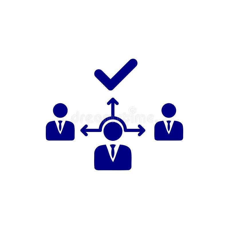 Επιχειρηματική απόφαση, επιχειρηματικό σχέδιο, απόφαση - παραγωγή, διαχείριση, σχέδιο, προγραμματισμός, μπλε εικονίδιο χρώματος σ ελεύθερη απεικόνιση δικαιώματος
