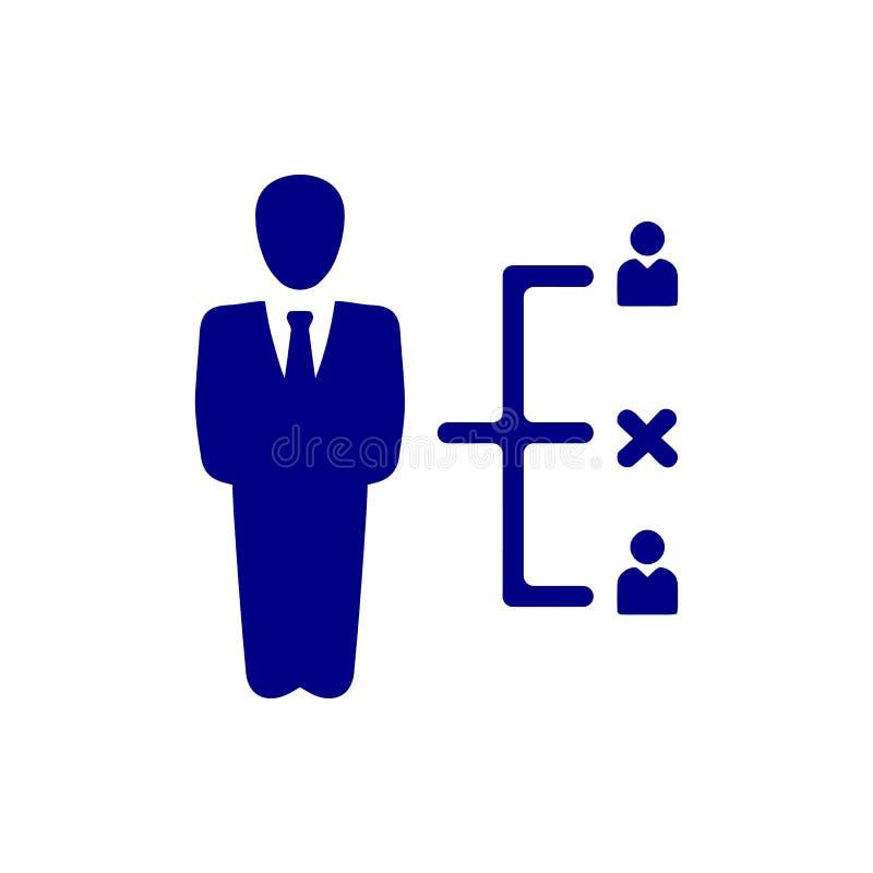 Επιχειρηματική απόφαση, επιχειρηματικό σχέδιο, απόφαση - παραγωγή, διαχείριση, σχέδιο, προγραμματισμός, μπλε εικονίδιο χρώματος σ διανυσματική απεικόνιση