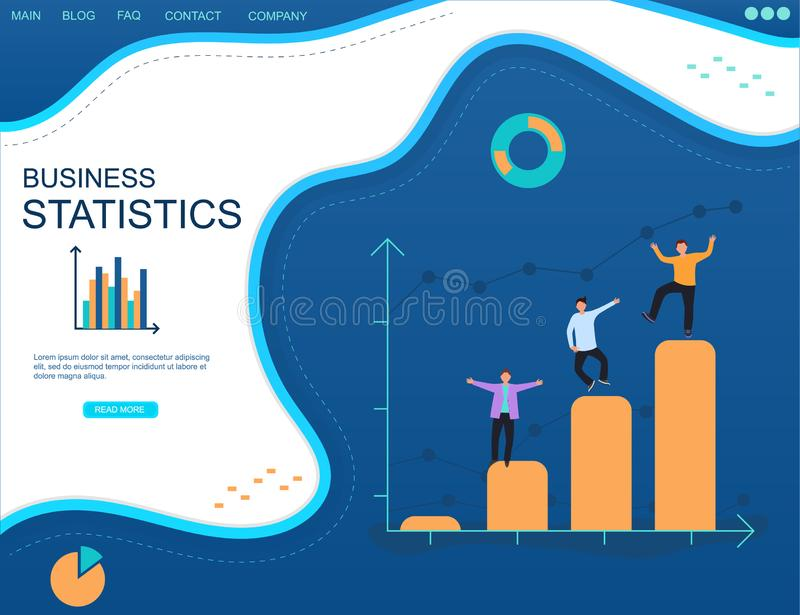 Επιχειρηματική κατασκοπεία Ανάλυση στατιστικών διανυσματική απεικόνιση