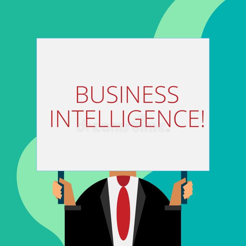 Επιχειρηματική κατασκοπεία γραψίματος κειμένων γραφής Έννοια που σημαίνει τη καλύτερη πρακτική των πληροφοριών που βελτιστοποιούν απεικόνιση αποθεμάτων