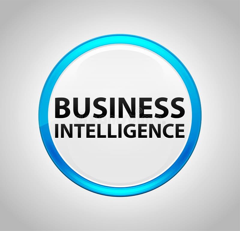 Επιχειρηματική κατασκοπεία γύρω από το μπλε κουμπί ώθησης διανυσματική απεικόνιση
