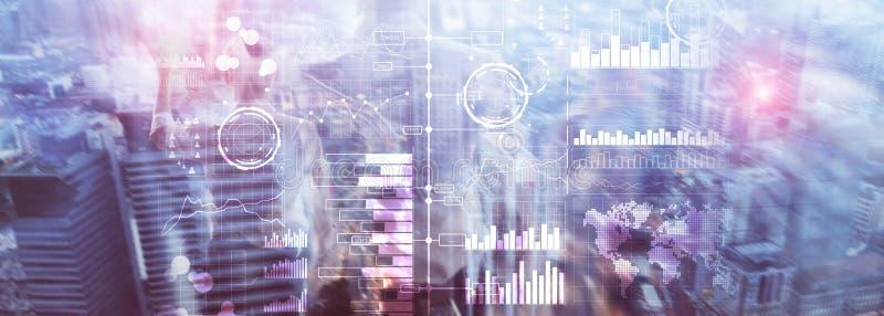 Επιχειρηματική κατασκοπεία Διάγραμμα, γραφική παράσταση, απόθεμα που κάνει εμπόριο, ταμπλό επένδυσης, διαφανές θολωμένο υπόβαθρο απεικόνιση αποθεμάτων