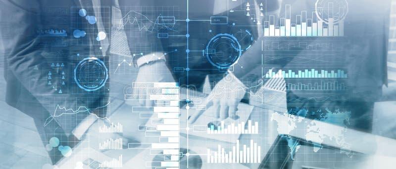 Επιχειρηματική κατασκοπεία Διάγραμμα, γραφική παράσταση, απόθεμα που κάνει εμπόριο, ταμπλό επένδυσης, διαφανές θολωμένο υπόβαθρο ελεύθερη απεικόνιση δικαιώματος
