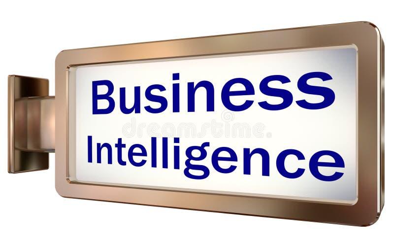 Επιχειρηματική κατασκοπεία στο υπόβαθρο πινάκων διαφημίσεων απεικόνιση αποθεμάτων