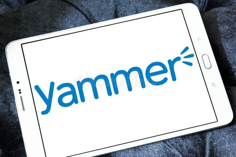 Επιχειρηματικό λογότυπο Yammer στοκ εικόνα
