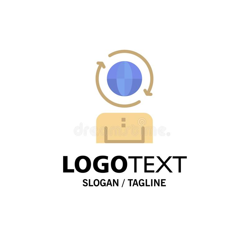 Επιχειρηματικό πεδίο, παγκόσμιο, διαχείριση, σύγχρονο πρότυπο επιχειρησιακών λογότυπων Επίπεδο χρώμα διανυσματική απεικόνιση