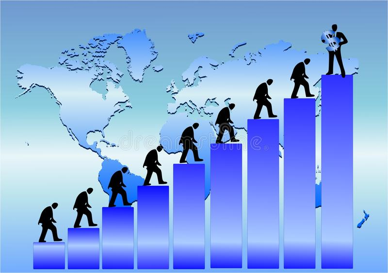 επιχειρηματικό πεδίο παγκόσμιο απεικόνιση αποθεμάτων