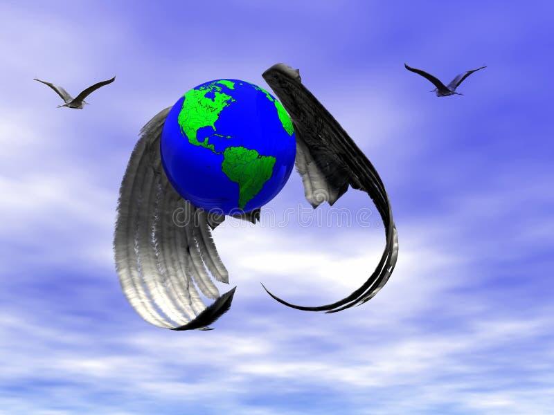 επιχειρηματικό πεδίο παγκόσμιο ελεύθερη απεικόνιση δικαιώματος
