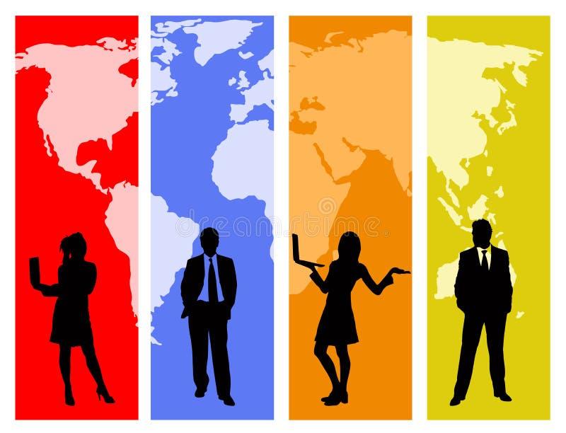 επιχειρηματικό πεδίο παγ& διανυσματική απεικόνιση